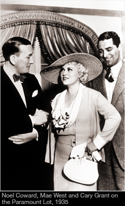 Mae West with Noel Coward & Cary Grant, 1933